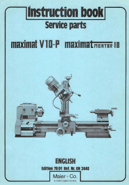 Maximat V10P Instruction Manual RED